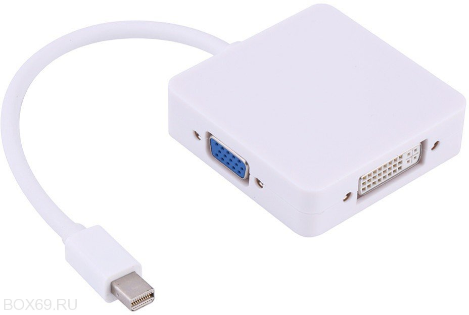 Конвертер-переходник Mini dp/Thunderbolt=>VGA+HDMI+DVI