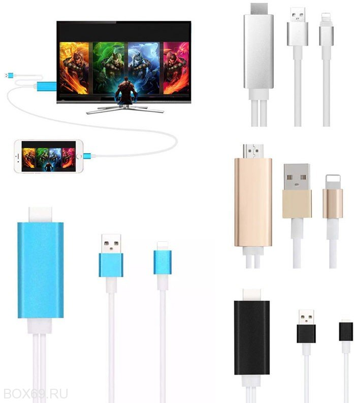 Кабель для iPhone Lightning / HDMI